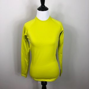 Nike Therma Fit Long Sleeve Warm Top Chartreuse S